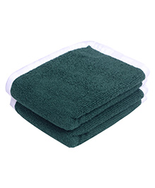 Mumma's Touch Organic Baby Wash Towel Pack of 2 - Pine Green