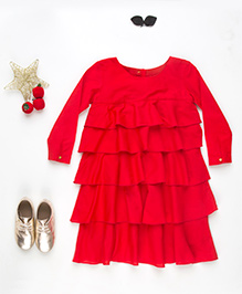 MilkTeeth Layered Dress - Red
