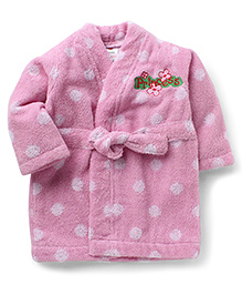 Wonderchild Bath Robe Polka Dot - Pink