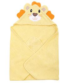 Wonderchild Baby Hooded Lion Towel - Yellow