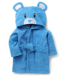 Wonderchild Bear Bath Robe - Blue
