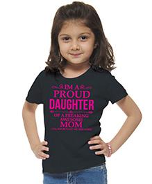 M'andy Proud Daughter T-Shirt - Black