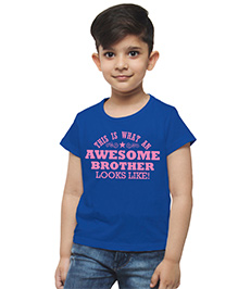 M'andy Awesome Brother T-Shirt - Blue