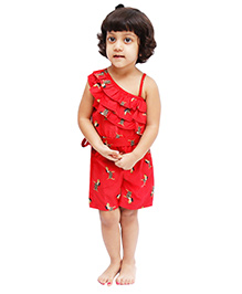 D'chica Chic & Sassy Jumpsuit For Girls - Red