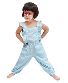 D'chica Chic & Sassy Jumpsuit For Girls - Blue & Pink