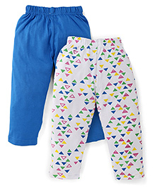 Babyhug Full Length Set of 2 Pajamas - Blue & White