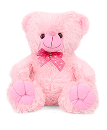 Play N Pets Teddy Bear Soft Toy With Paws Pink - 30 Cm
