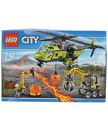 Lego City Volcano Supply Helicopter - Multicolor