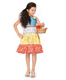 Peek-a-Boo Layered Dress - Multicolour