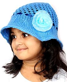 Magic Needles Handknitted Hat For Girls - Blue
