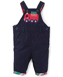 Beebay Dungaree Vehicle Embroidery - Navy
