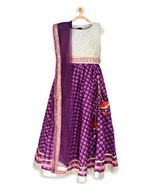 Pspeaches Lehenga Choli Set - Purple