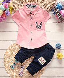 Pre Order : Dells World Party Wear Clothing Set - Pink & Blue