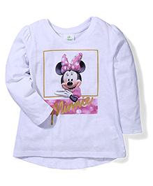 Fox Baby Full Sleeves T-Shirt Minnie Print - White