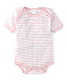Playbeez Stripe Print Onesie - Peach