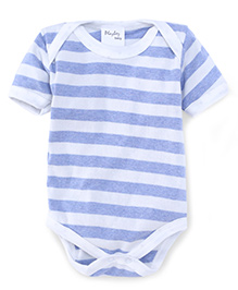 Playbeez Big Striped Bodysuit - Blue & White