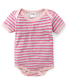 Playbeez Stripes Onesie - Pink