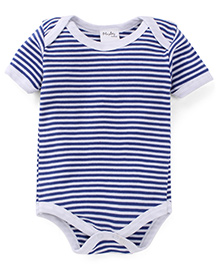 Playbeez Thin Stripe Print Onesie - Blue & White