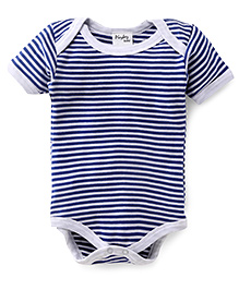 Playbeez Striped Print Onesie - Blue