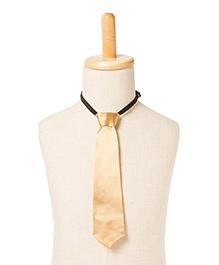 Brown Bows Satin Tie - Golden