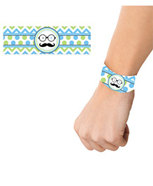 Prettyurparty Little Man Theme Wrist Bands - Pack Of 10