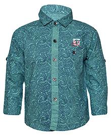 Tales & Stories Full Sleeves Paisley Print Shirt - Green