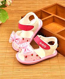Alle Alle Sandals Bow Applique - Pink