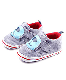 Alle Alle Shoes Style Booties Puppy Design - Grey