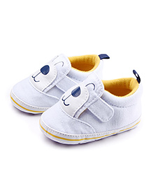 Alle Alle Shoes Style Booties Puppy Design - White