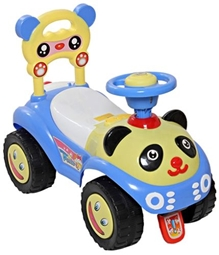 Fab N Funky Swing Car Bear Pattern - Blue N Yellow - Carry capacity upto 20 Kg