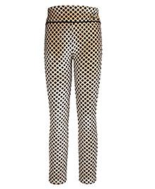 Cutecumber Leggings Polka Dots Print - Beige