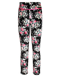 Cutecumber Leggings Floral Print - Black