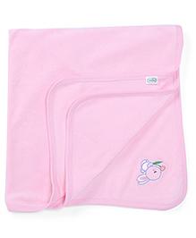 Babyhug Towel Bunny Embroidery - Pink