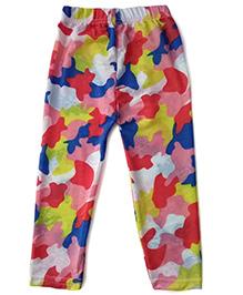 Aakriti Creations Multi Print Netted Leggings - Multicolour