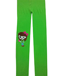 Aakriti Creations Tights With A Weaved Girl - Green