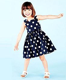 Superfie Polka Dot Beautiful Dress - Navy
