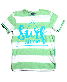 One Friday Surf Print T-Shirt - Mint Green