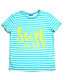 One Friday Surf Print T-Shirt - Turquoise