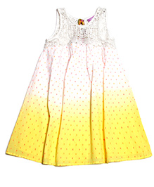 One Friday Printed Dress - Yellow