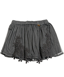 One Friday Skirt With Lace - Grey