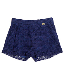 One Friday Crochet Lace Short - Blue