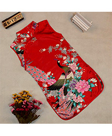 Pre Order : Tiny Closet Sleeveless Chinese Traditional Dress - Red