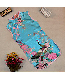 Pre Order : Tiny Closet Sleeveless Chinese Traditional Dress - Blue