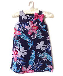 Nitallys Tropical Dress - Blue