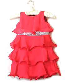 Nitallys Classy Layered Dress - Coral
