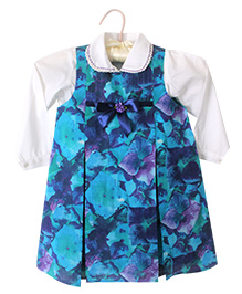 Nitallys Floral Printed Tunic With Shirt - Blue