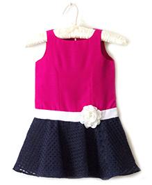 Nitallys Drop Hem Dress - Pink & Blue