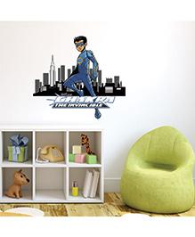 Chipakk Chakra The Invincible With Cityscape Wall Sticker Multi Color - Medium