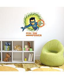 Chipakk Chakra The Invincible Feel The Power Wall Sticker Blue & Green - Medium