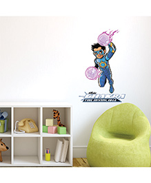 Chipakk Running Chakra The Invincible Wall Sticker Multi Color - Medium